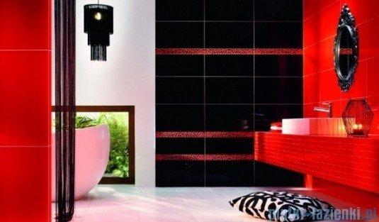 Listwa ścienna Tubądzin Colour Black&Red 1A 59,3x12