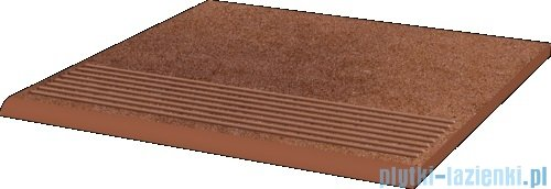 Paradyż Taurus brown klinkier stopnica prosta 30x30