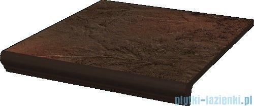 Paradyż Semir brown klinkier stopnica prosta z kapinosem 30x33