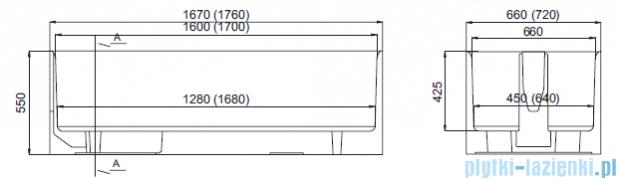 Nośnik styropianowy uniwersalny Schedpol do wanien prostokątnych 120 do 170 x 75cm   1.029