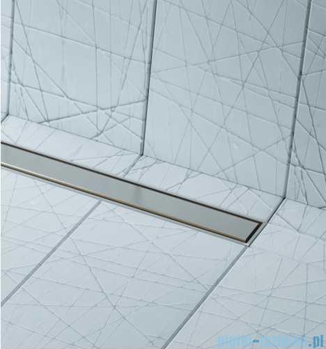 Schedpol brodzik posadzkowy podpłytkowy ruszt Slim Lux Steel 80x80x5cm 10.101/OLSL
