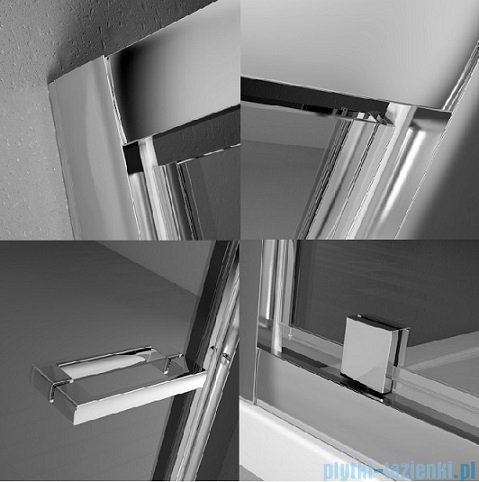 Radaway Twist DW+S Kabina prysznicowa 90x90 szkło przejrzyste + brodzik Delos C + syfon 382002-01/382012-01/SDC0909-01