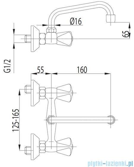KFA STANDARD Bateria umywalkowa ścienna 320-380-00