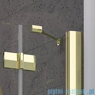 Radaway Almatea P GOLD kabina półokrągła przyścienna 100x90 szkło przejrzyste 30722-09-01N