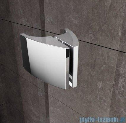 Ravak Kabina prysznicowa Pivot PSKK3 półokrągła 80x80 satyna transparent 37644U00Z1