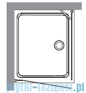 Kerasan Retro Kabina prostokątna prawa szkło przejrzyste profile brązowe 80x96 9144T3