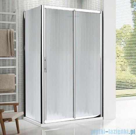 Novellini Drzwi prysznicowe przesuwne LUNES 2P 102 cm szkło przejrzyste profil srebrny LUNES2P102-1B