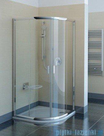 Ravak Kabina prysznicowa Blix BLCP4 półokrągła 90x90 profile białe transparent Anticalc 3B270100Z1