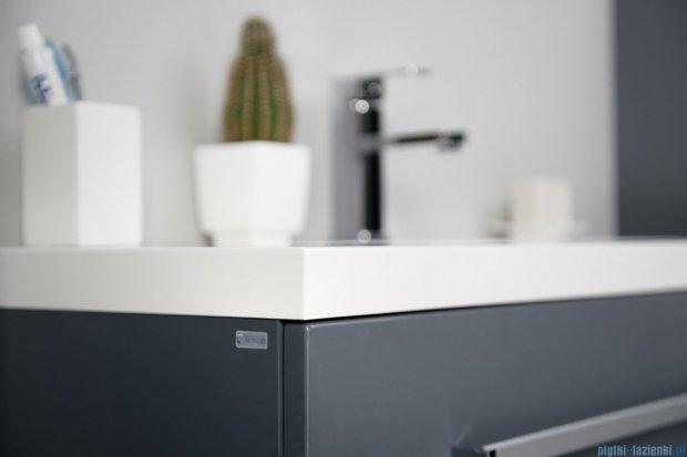 Antado Variete szafka z umywalką, wisząca z dwiema szufladami 60x39x40 szary połysk FM-C-442/6/2-K917 + UMMC-600X390