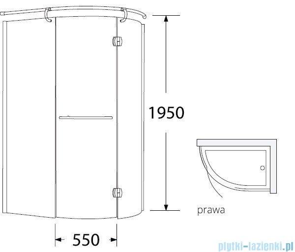 Sea Horse Sigma kabina natryskowa narożna Klio prawa 120x85cm przejrzyste BK261TP