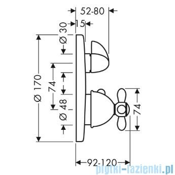 Hansgrohe Axor Carlton Bateria termostatowa podtynkowa 17725000