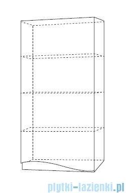 Antado Wave szafka wisząca prawa 40x20x80cm szary mat VA-119R-U112