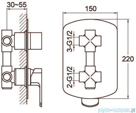Kohlman Foxal zestaw prysznicowy chrom QW211FR35