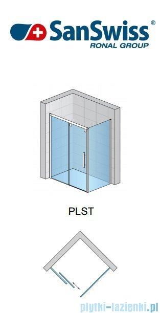SanSwiss Pur Light S PLST Ścianka boczna 70cm profil biały szkło przejrzyste PLST0700407