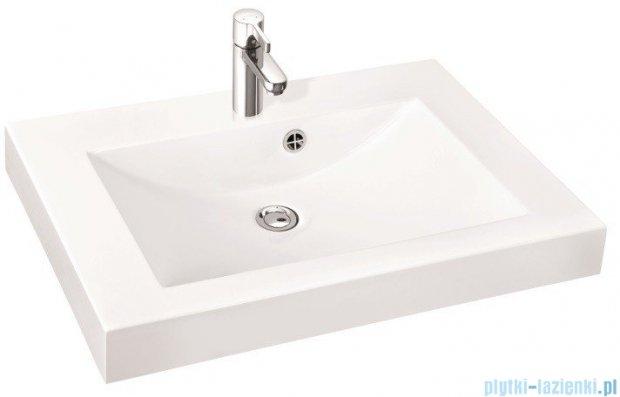 Marmorin umywalka nablatowa Moira Bis 80, 80 cm bez otworu biała 280080022010