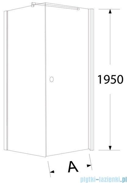 Sea Horse Fresh Line kabina natryskowa kwadratowa 90x90cm drzwi pojedyncze grafit BK259G