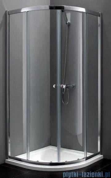 Atrium Bari kabina półokrągła 90x90x190 cm szkło: Grafit FF0409G