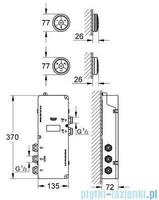 Grohe Veris F-digital elektroniczny sterownik i przełącznik chrom 36289000