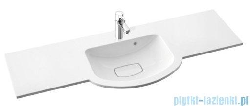 Marmorin Emma 1200 umywalka nablatowa 120x45 z przelewem bez otworu na baterie biała 639120020210