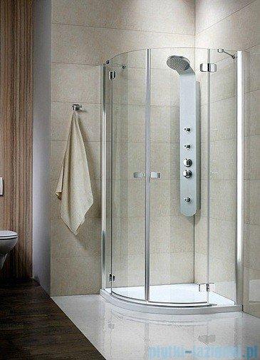 Radaway Kabina prysznicowa Fuenta PDD E 90x80 szkło przejrzyste 381005-01N