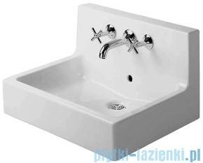 Duravit Vero umywalka szlifowana z przelewem ze ścianką tylną z trzema otworami na baterie 600x470 mm 045360 00 25