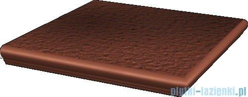 Paradyż Cloud rosa duro klinkier stopnica narożna z kapinosem 33x33