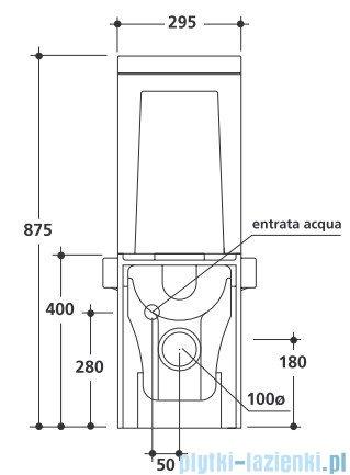 Kerasan Cento spłuczka do kompaktu WC 3582