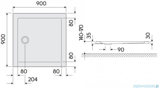 Koło Terra Brodzik 90cm kwadratowy XBK1790000