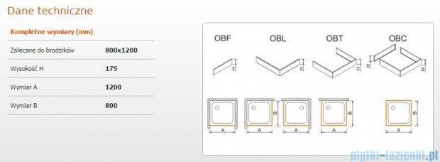 Sanplast Obudowa do brodzika OBL 80x120x17,5 cm 625-403-1350-01-000