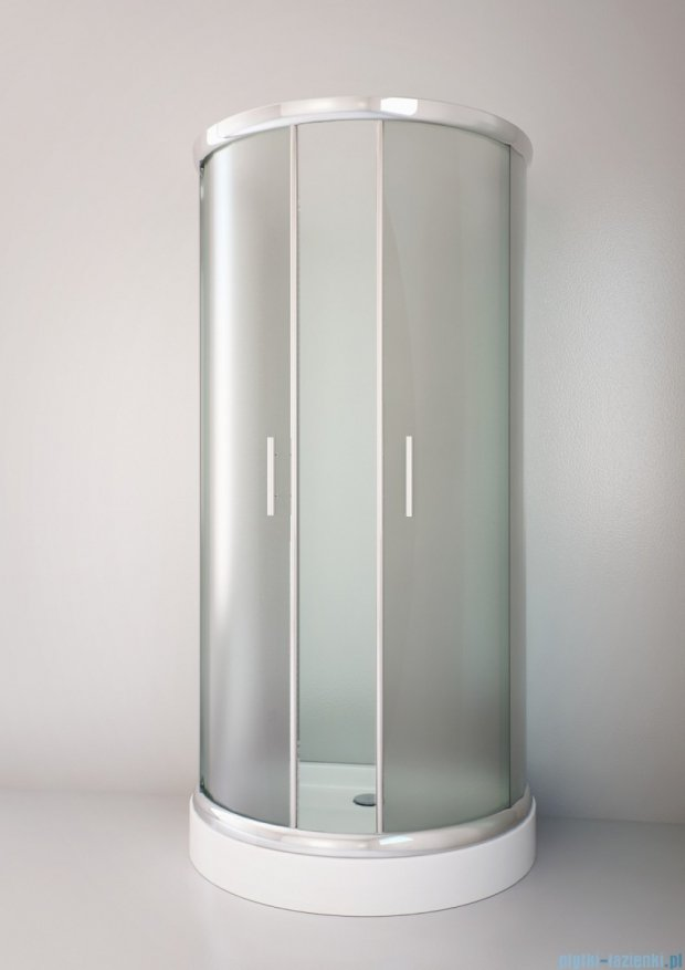 Sea Horse Sigma kabina natryskowa przyścienna półokrągła 100x80cm chinchilla BK002/3/X