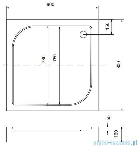 Sea Horse Sigma zestaw kabina natryskowa kwadratowa 80x80cm przejrzyste +brodzik BKZ1/1/Q