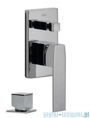 Tres Slim-Tres Bateria podtynkowa wannowo-natryskowa chrom 202.180.02