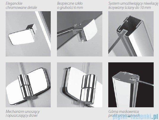 Radaway Kabina prysznicowa Fuenta PDD 80x80 szkło brązowe 381002-08N