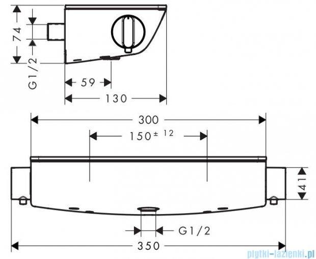 Hansgrohe Ecostat Select® Bateria termostatowa natryskowa DN15 13161000