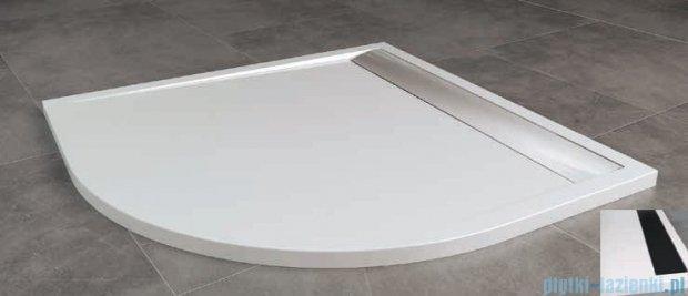 SanSwiss Ila Wir Brodzik półokrągły 100x100cm kolor biały/czarny WIR551000604