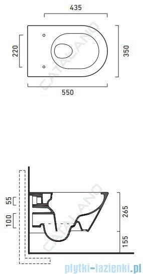 Catalano Zero Wc 55 Newflush miska wisząca bezrantowa 55x35 cm + deska wolnoopadająca biała 1VS55NR00+5SCSTP000