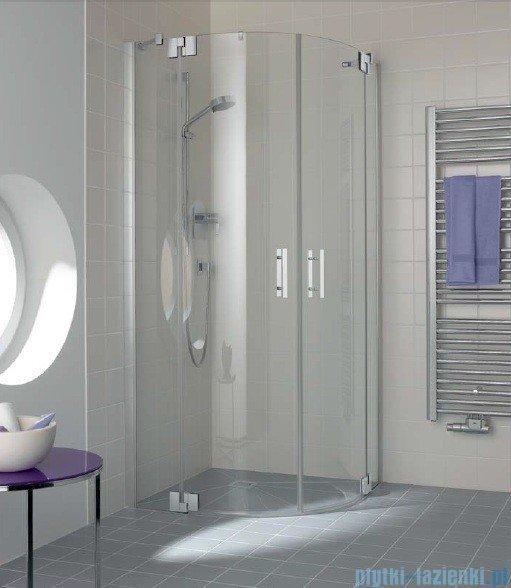 Kermi Filia Xp Kabina ćwierćkolista, drzwi wahadłowe, szkło przezroczyste, profil srebro 90x200cm FXP5009020VAK