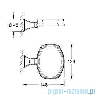 Grohe Grandera uchwyt z ceramiczną mydelniczką chrom 40628000
