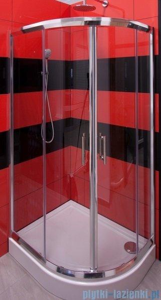 Omnires Health kabina 2-skrzydłowa prawa 80x90x185cm szkło przejrzyste JK2808/09P