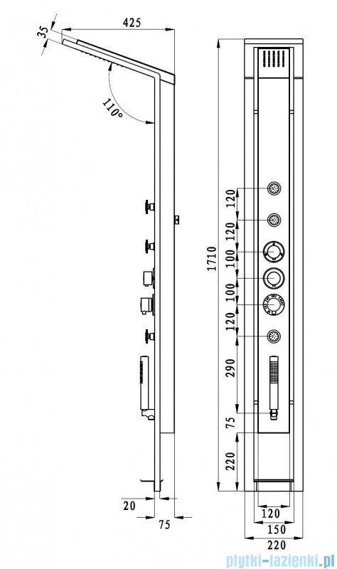 Deante Jaguar Industrio Panel natryskowy NQI 351T