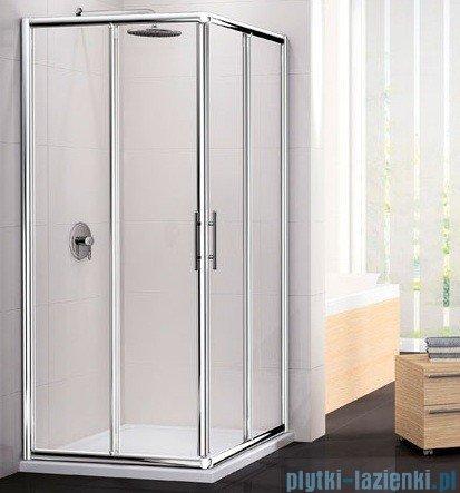 Novellini Ścianka Kabiny prysznicowej LUNES 75 cm szkło przejrzyste profil biały LUNESA75L-1D