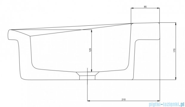 Koło Cocktail Umywalka 65cm prostokątna wpuszczana w blat L31866900