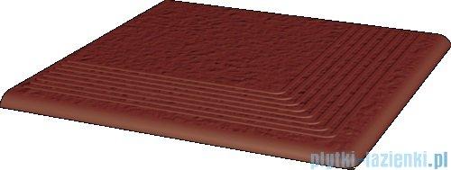 Paradyż Natural rosa duro klinkier stopnica narożna 30x30
