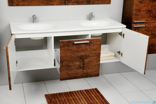 Antado Sycylia szafka z umywalką 135x50x45 stare drewno KTS-140/3-50 + UMMO-1360-03D
