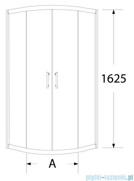 Sea Horse Sigma kabina natryskowa półokrągła niska 90x90cm brązowe A2 BK002/3/KB/A2