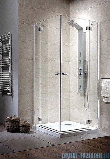 Radaway Kabina prysznicowa Fuenta KDD 80x90 szkło intimato 381066-12R