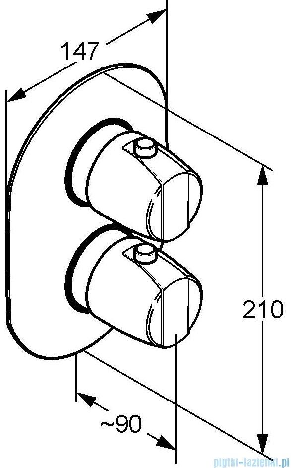 Kludi Mix/Objekta Termostat podtynkowa bateria z termostatem chrom 357300538