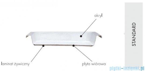 Schedpol Bona brodzik akrylowy półokrągły 90x90cm R55 3.239