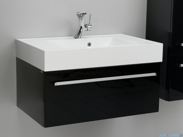 Antado Variete szafka z umywalką, wisząca 80x50x33 czarny połysk FM-442/8GT-9017 + UNA-800