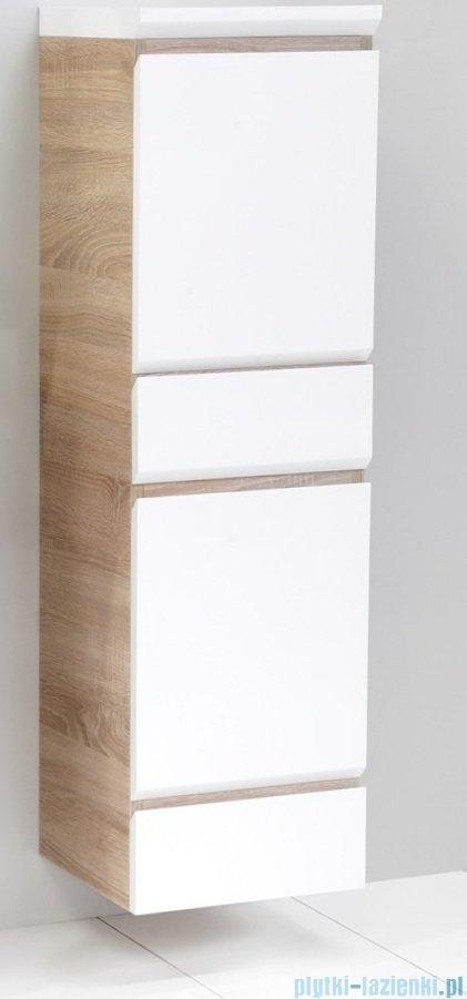 Antado Gabi słupek niski z blatem prawy 34x32x117cm dąb Sonoma+biały GBY-195R-3025/WS